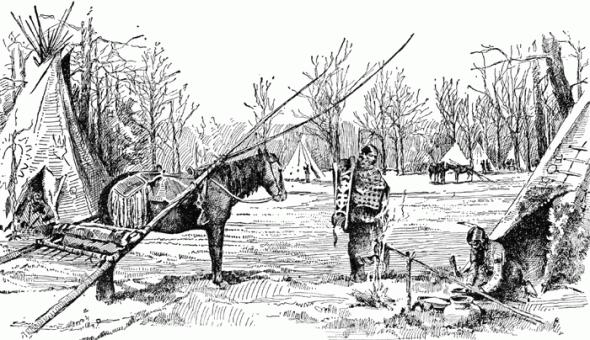 Dancing fox cabin native american warrior gatherer